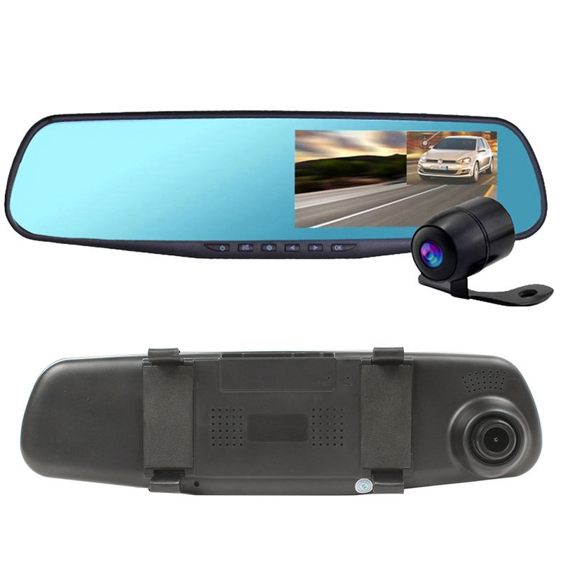 Dual Camera Car Dvr Camera Rearview Mirror Dash Cam G